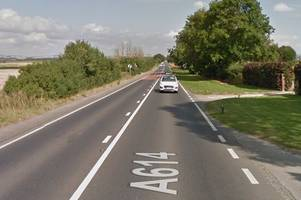 a614 crash: police confirm death of person in serious accident