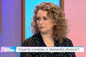 loose women's nadia sawalha wet herself in the studio - and 'everyone in the audience saw'