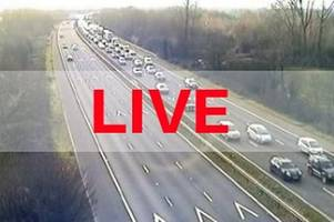 M5 traffic: Motorway blocked after reports of crash leaving car facing wrong way - live updates