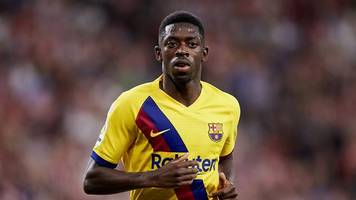barcelona's dembele out for five weeks with hamstring injury