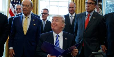 trump reportedly orders his cabinet to calm farmers' anger over new biofuel exemptions they lobbied against