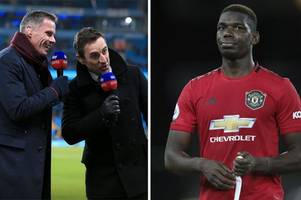 jamie carragher blasts sky sports pal gary neville for 'stupid' player of the year prediction