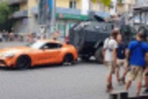 orange 2020 toyota supra to be in fast 9 alongside toretto's mid-engine, longtail, widebody charger