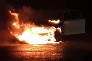 Car bursts into flames during serious blaze in Ayr's McDonald's car park