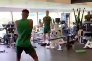 kris ajer less than impressed with celtic team-mate vakoun bayo's dodgy dance moves