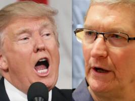 president trump says apple ceo tim cook is the only tech executive who actually calls him directly (aapl)