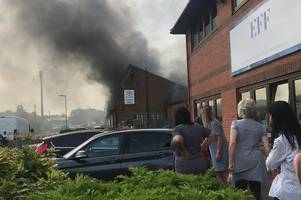 live ware marsh lane updates as furniture shop fire shuts road