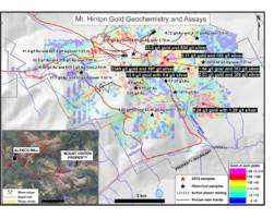 strategic metals ltd. announces 2340 g/t gold in a rock sample from its mount hinton property, yukon