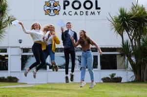 faces from gcse results day 2019 in cornwall