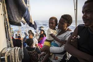 ocean viking migrant rescue ship is running low on food: doctors without borders