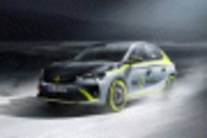 opel reveals electric rally car