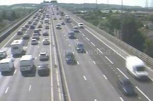 m5 traffic chaos: 70 miles of delays as bank holiday weekend rush begins