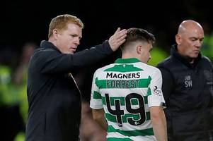 the james forrest sub reaction that shows celtic star's relentless mentality