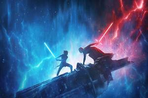 New Star Wars: The Rise of Skywalker trailer has Rey wielding a red double lightsaber
