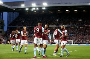 aston villa star dances in his pants after the victory over everton