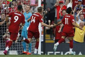 12 in a row! - liverpool set new club record with victory over arsenal