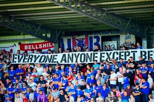 Rangers fans hit out at board with banner over Union Bears' section being closed down