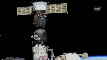 astronauts switch soyuz spacecraft's 'parking spot' at space station