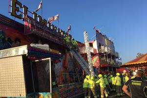 three children among those trapped 15 feet in the air on fairground ride
