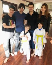abram khan keeps up with the 'family tradition' of tae 'khan' doh; see pictures