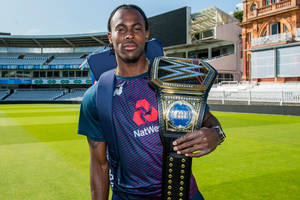 england cricket heroes celebrate world cup success with wwe championship title