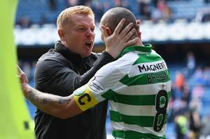 celtic boss neil lennon ridicules the 'noise' and 'hype' as he raves about 'outstanding' ibrox masterclass