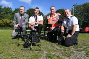new drones will be eyes in the sky for police operations and in searches for missing people