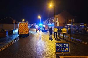 ayrshire road closed as police and fire brigade deal with incident