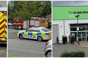 live updates: emergency services at scene of 'incident' at co-op store in northfield