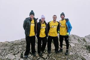 irvine woman climbs uk's highest peak to raise funds for the beatson cancer charity