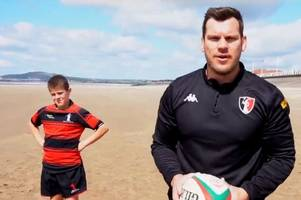 a welsh rugby club has gone all out to promote their team and the results are just brilliant