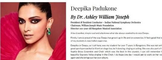 deepika padukone's school teacher pens a heartfelt note for her