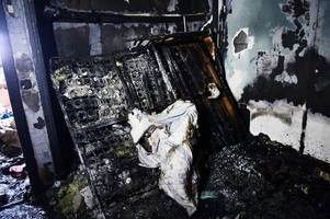 'we can't live here for a year' – family of five left homeless after huge fire rips through house leaving it looking like this