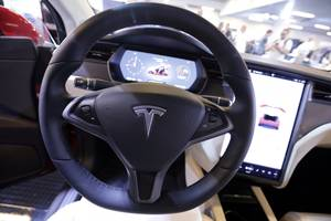 a new video shows a tesla driver who appears to be asleep while driving down the massachusetts turnpike (tsla)