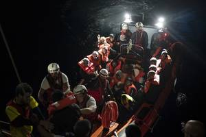charity ship rescues 50 african migrants in sea off libya; malta gets distress call