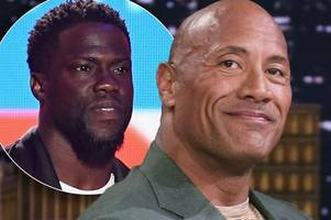 dwayne 'the rock' johnson issues three word update over kevin hart's horror car crash