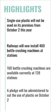 recharge phones using plastic bottle crushers at railway stations