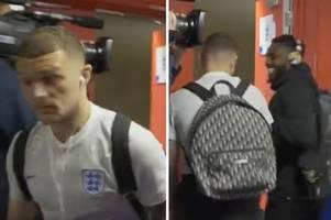 england fans rinse kieran trippier after 'missing dressing room' in unseen tunnel footage