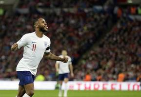 raheem sterling subjected to alleged racist abuse during england's game against bulgaria on saturday