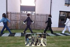 Scots scarecrow festival pays tribute to The Beatles' iconic Abbey Road cover