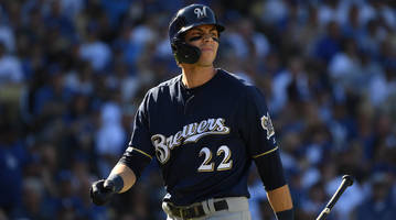 Brewers Star Christian Yelich Fouls Ball Off Leg, Limps Out of Game