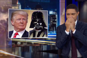 Stephen Colbert and Trevor Noah Have a Lot of Fun After It Looks Like Trump Forgot His Son (Videos)