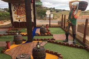 new crazy golf course has opened in exmouth - but it might become a car park