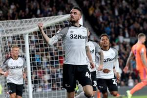 derby county 1-1 cardiff city - match in pictures