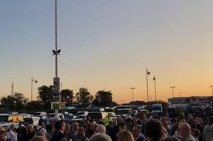 pride park stadium evacuated ahead of derby county vs cardiff city