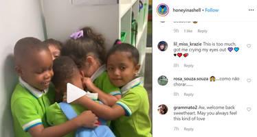 Watch Video: Toddler receives warm welcome in school after surviving Hurricane Dorian