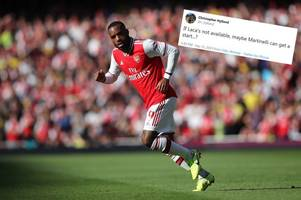 The surprise name Arsenal fans want to replace Alexandre Lacazette with vs Watford