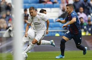 Hazard makes league debut as Real Madrid beats Levante 3-2