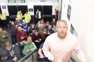 cardiff city cult figure jon parkin delights bluebirds fans in away end at derby county