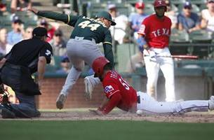 Jose Trevino Scores only Run in Rangers 6-1 loss to Athletics